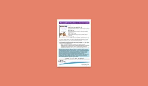 En este momento estás viendo Tissue and Cell Donation Book: An Essential Guide.